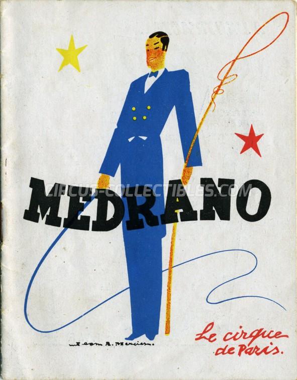 Medrano (FR) Circus Program - France, 1949