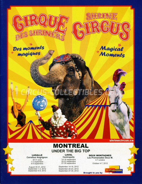 Shrine Circus Circus Program - Canada, 2012