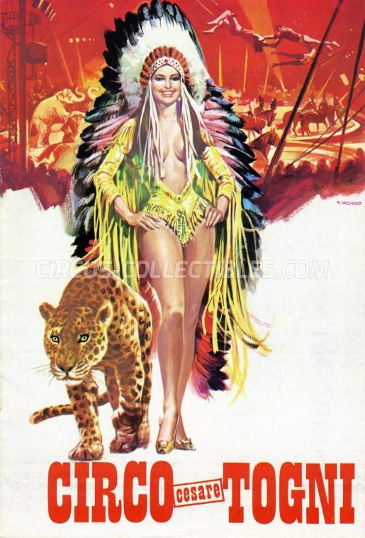 Cesare Togni Circus Program - Italy, 1972
