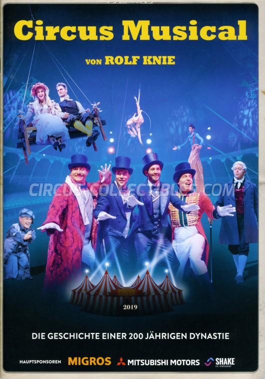 Knie - Das Circus Musical Circus Program - Switzerland, 2019