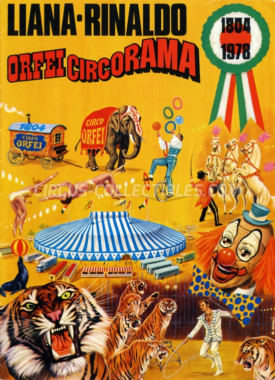 Liana e Rinaldo Orfei Circus Program - Italy, 1978
