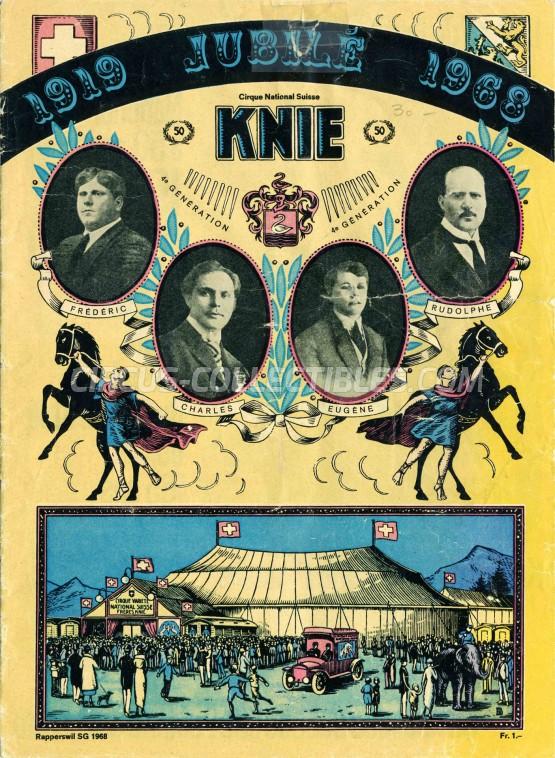 Knie Circus Program - Switzerland, 1968