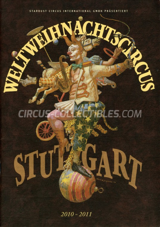 Weltweihnachtscircus Stuttgart Circus Program - Germany, 2010
