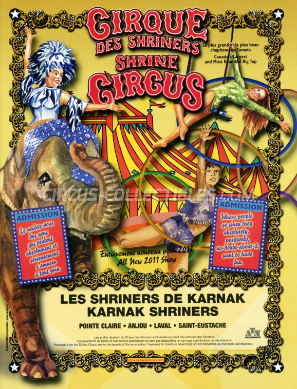 Shrine Circus Circus Program - Canada, 2011