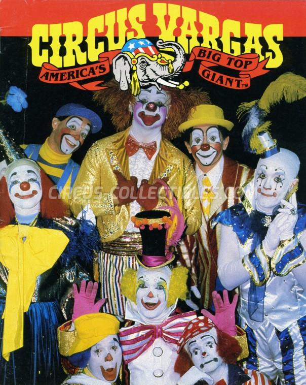 Vargas Circus Program - USA, 1983
