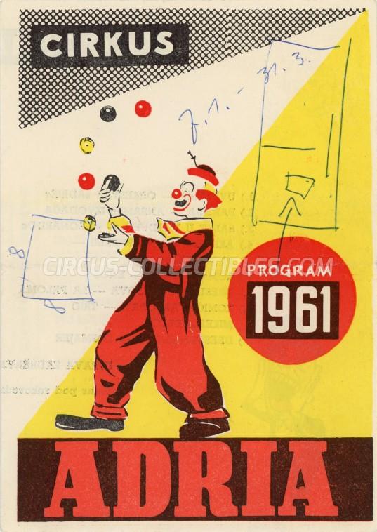 Adria Circus Program - Serbia, 1961