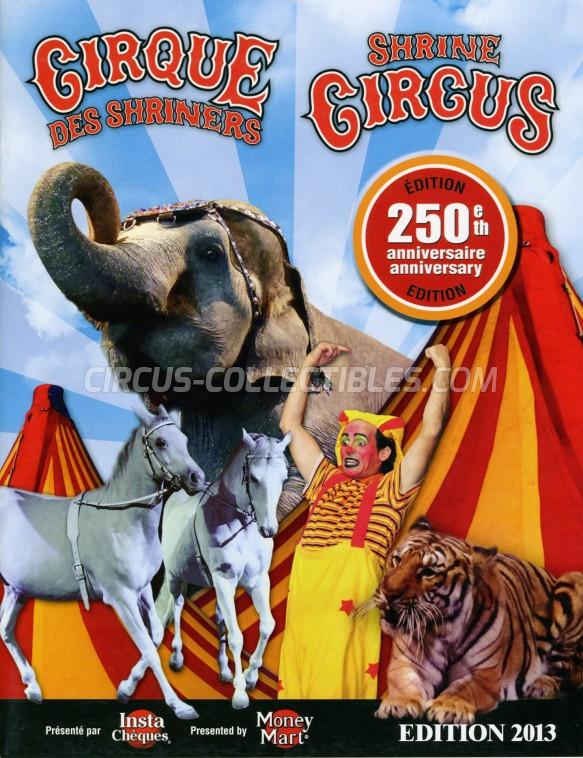 Shrine Circus Circus Program - Canada, 2013