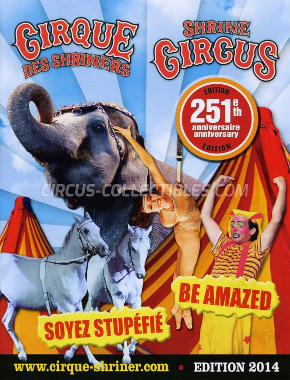 Shrine Circus Circus Program - Canada, 2014