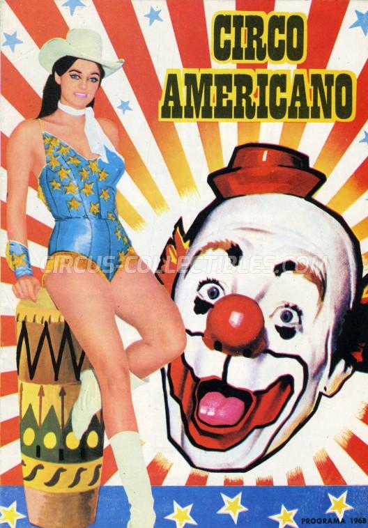 American Circus Circus Program - Italy, 1968