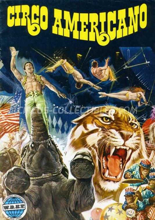 American Circus Circus Program - Italy, 1976