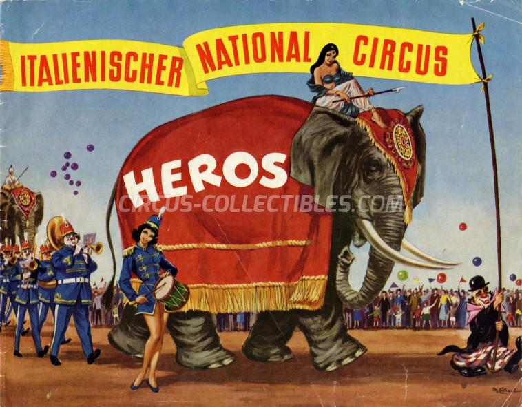 Heros Circus Program - Italy, 1963