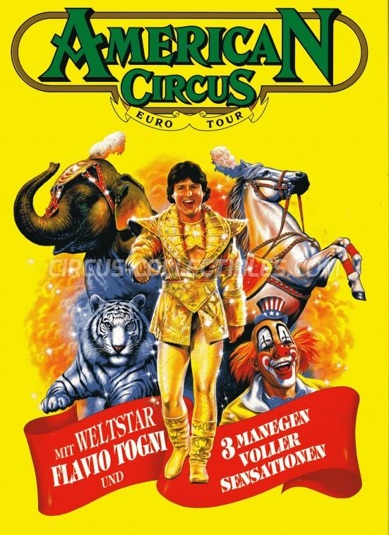 American Circus Circus Program - Italy, 1993