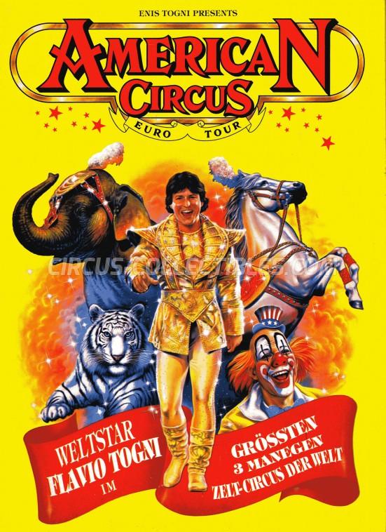 American Circus Circus Program - Italy, 1994