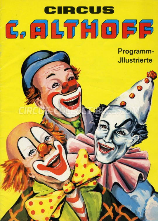 Carl Althoff Circus Program - Germany, 1973