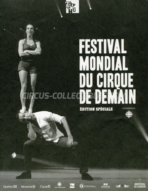 Festival Mondial du Cirque de Demain Circus Program - France, 2013