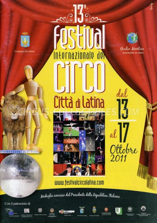 Festival Internazionale del Circo Città di Latina Circus Program - Italy, 2011