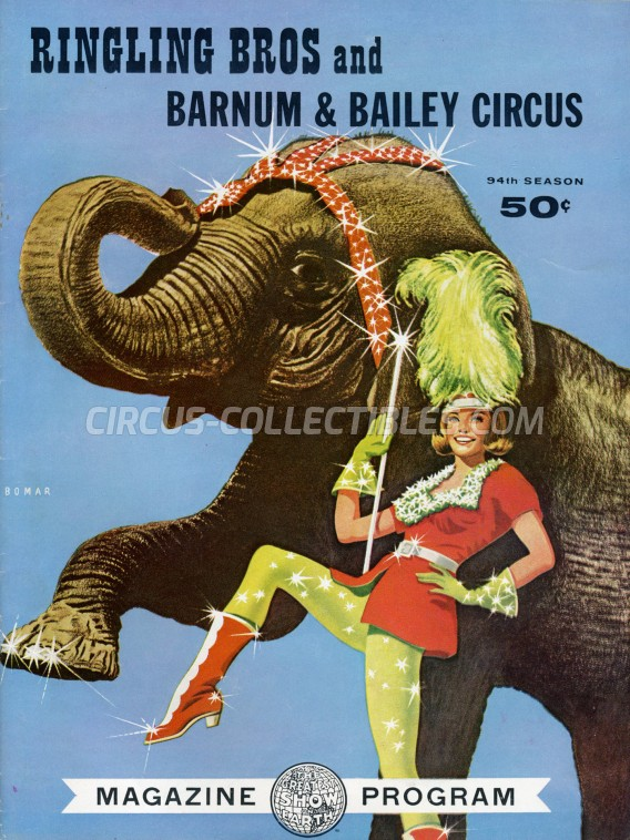 Ringling Bros. and Barnum & Bailey Circus Circus Program - USA, 1964