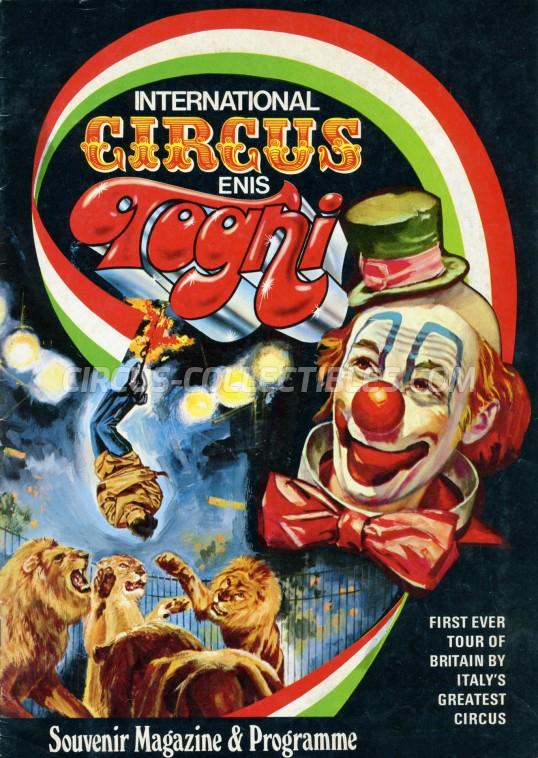 Enis Togni Circus Program - Italy, 1972