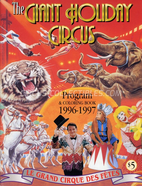 The Giant Holiday Circus Circus Program - Canada, 1996