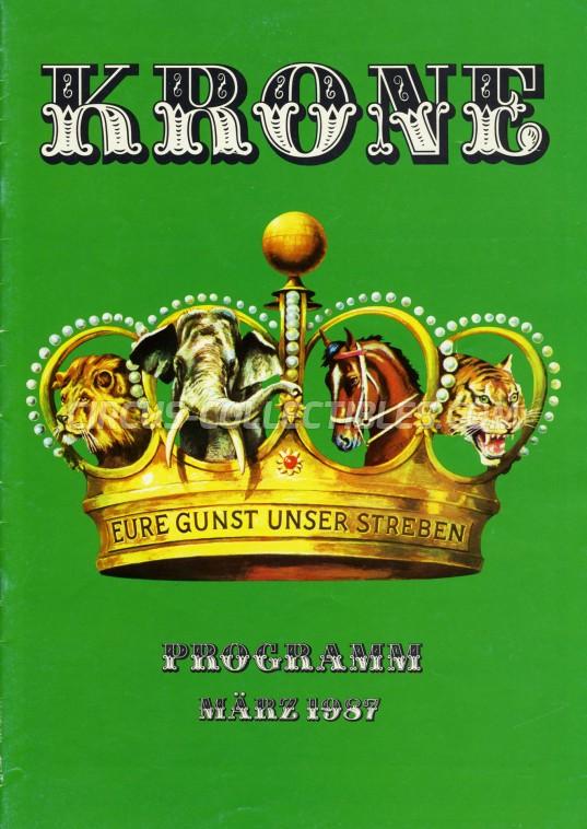 Krone Circus Program - Germany, 1987