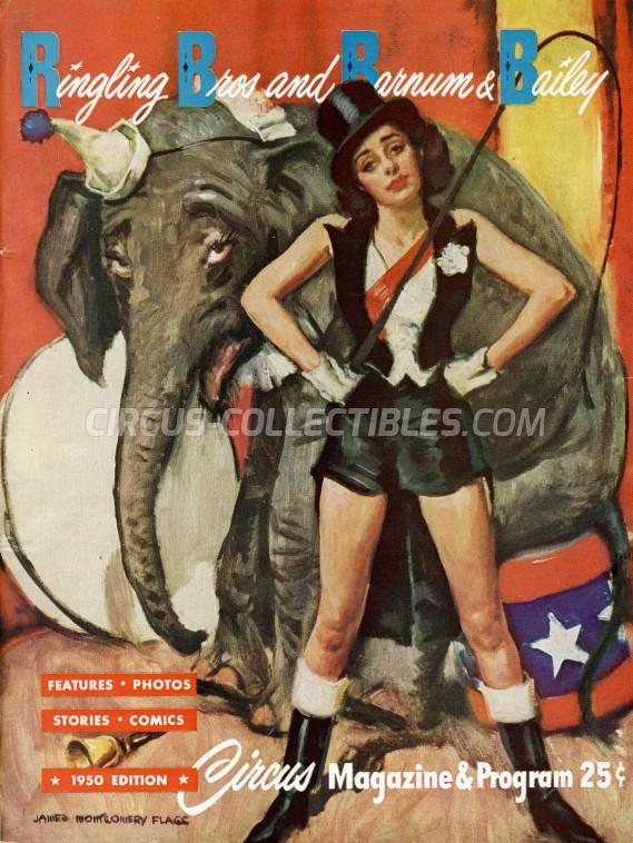 Ringling Bros. and Barnum & Bailey Circus Circus Program - USA, 1950