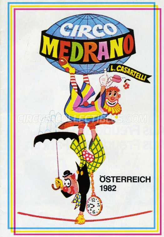 Medrano (Casartelli) Circus Program - Italy, 1982