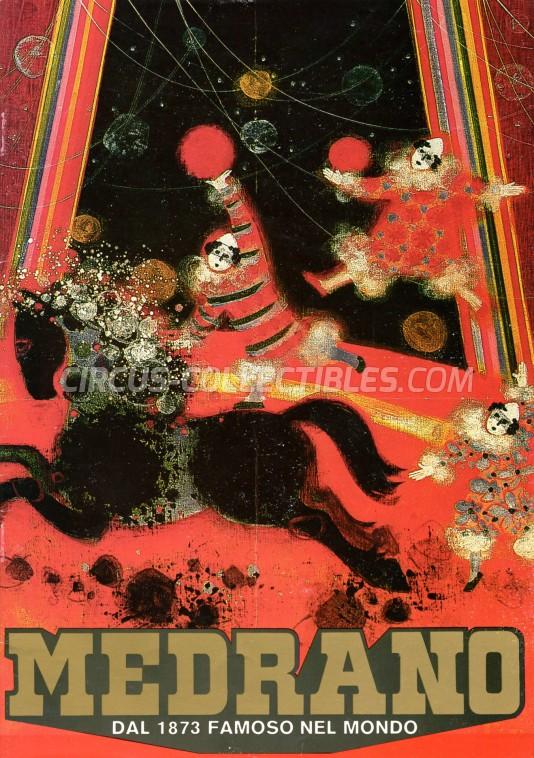 Medrano (Casartelli) Circus Program - Italy, 1988