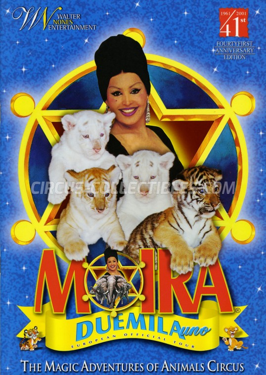 Moira Orfei Circus Program - Italy, 2001
