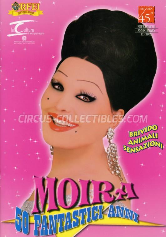 Moira Orfei Circus Program - Italy, 2005