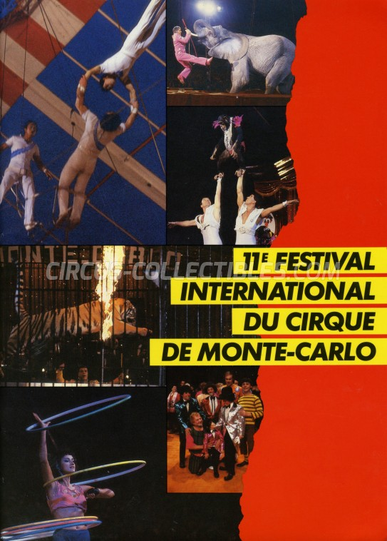 Festival International du Cirque de Monte-Carlo Circus Program - Monaco, 1985