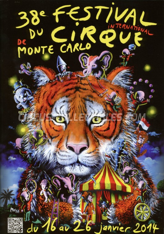 Festival International du Cirque de Monte-Carlo Circus Program - Monaco, 2014
