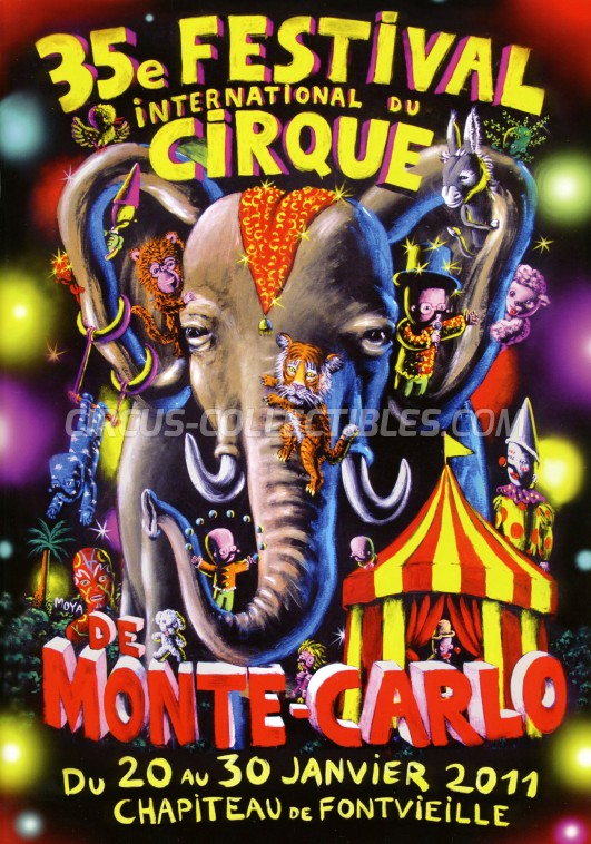 Festival International du Cirque de Monte-Carlo Circus Program - Monaco, 2011