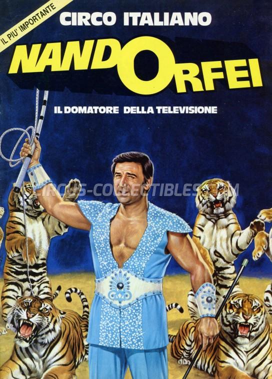 Nando Orfei Circus Program - Italy, 1980