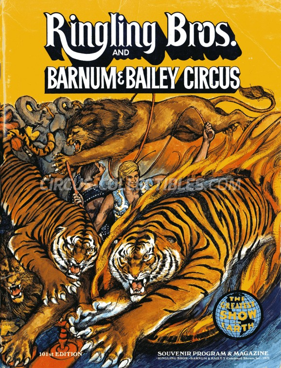 Ringling Bros. and Barnum & Bailey Circus Circus Program - USA, 1971