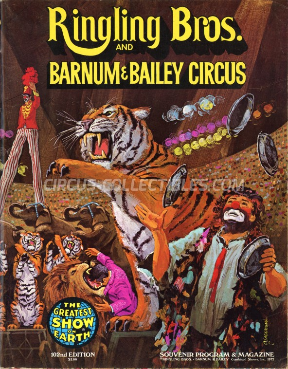 Ringling Bros. and Barnum & Bailey Circus Circus Program - USA, 1972