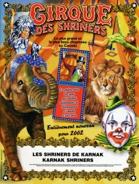 Cirque des Shriners - Program - Canada, 2002