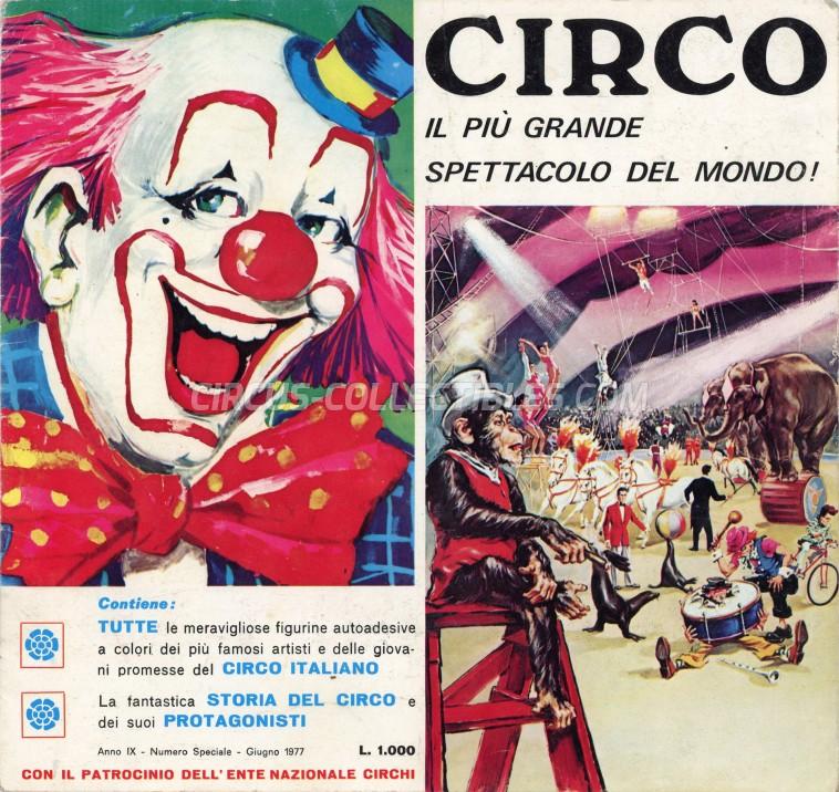 Circo - Il Più Grande Spettacolo del Mondo! - Sticker Album - 1977
