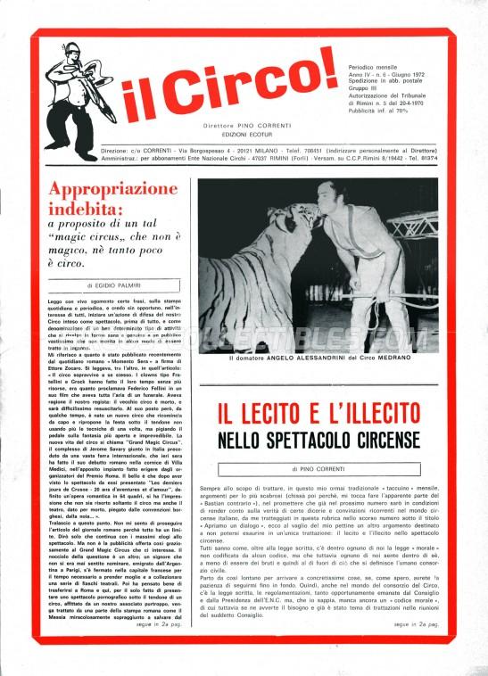 Il Circo - Magazine - 1972