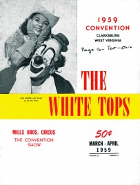 The White Tops - Magazine - USA, 1959