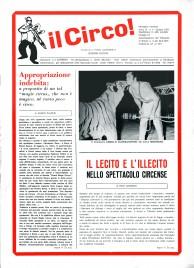 Il Circo - Magazine - Italy, 1972