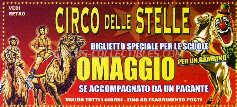 Circo delle Stelle Circus Ticket/Flyer - Italy 2010