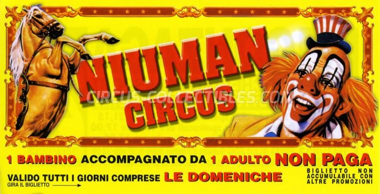 Niuman Circus Ticket/Flyer - Italy 2007