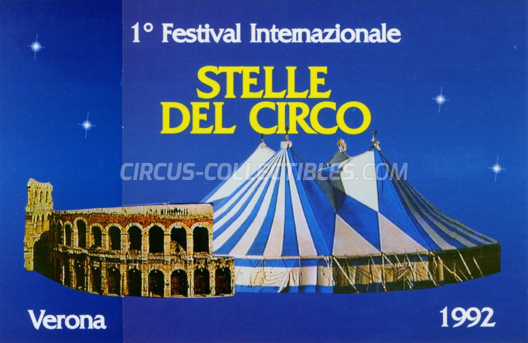 Festival Internazionale Stelle del Circo Circus Ticket/Flyer - Italy 1992