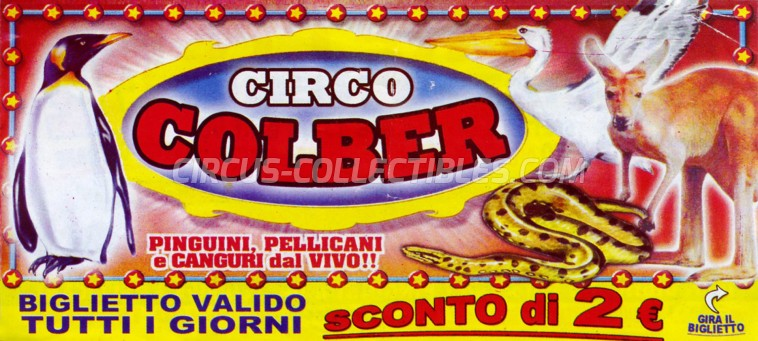 Colber Circus Ticket/Flyer - Italy 2008