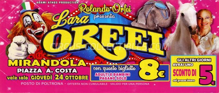 Rolando Orfei Circus Ticket/Flyer - Italy 2019