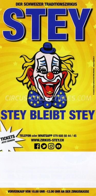 Stey Circus Ticket/Flyer -  2020
