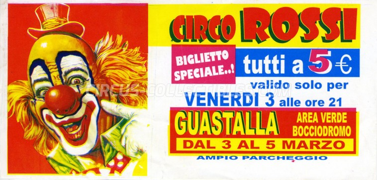 Rossi Circus Ticket/Flyer - Italy 2006