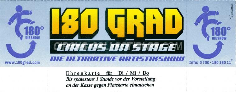 180 Grad Circus Ticket/Flyer -  2003