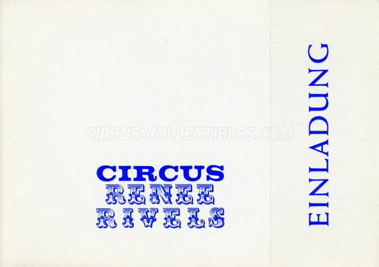 Rivels Circus Ticket/Flyer -  0