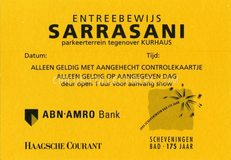 Sarrasani Circus Ticket/Flyer - Netherlands 1968